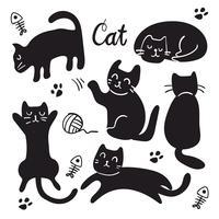 desenho de vetor de caráter de gato