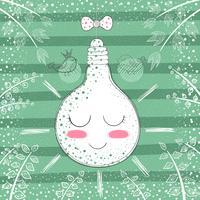 Bulbo princesa bonito - ilustração dos desenhos animados