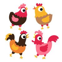 projeto de coleção de vetores de frango