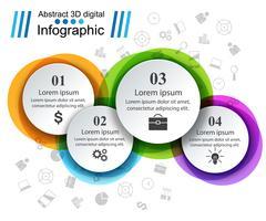 Ilustração do vetor do estilo do origâmi de Infographics do negócio.