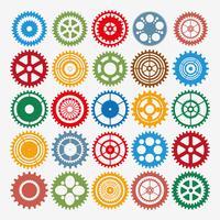 Conjunto de engrenagens multicolor