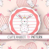 Princesa pequena bonito - desenhos animados do coelho.