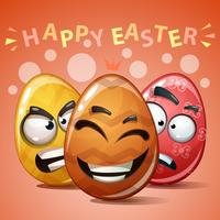 Feliz Páscoa, definir o ovo de cor. vetor