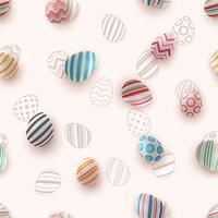 Feliz Páscoa - padrão de ovo sem emenda vetor