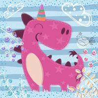 Bonito sono unicort - ilustração texturizada vetor