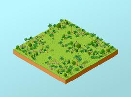 Parque 3D isométrico vetor