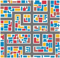 Cidade multicolor abstrata