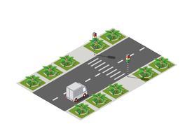 Rodovia rua da cidade vetor