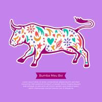 Ilustração de Bumba Meu Boi Bull vetor