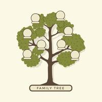 Modelo de ilustração de árvore genealógica vetor
