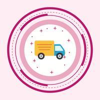 Design de ícone de caminhão vetor