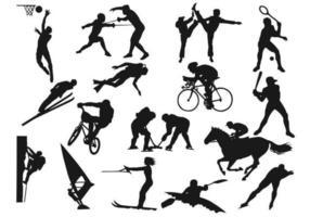Pacote de vetores de silhueta de esportes
