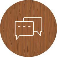 Design de ícone de conversa vetor
