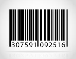 ilustração vetorial de código de barras