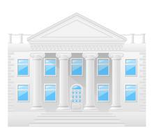 ilustração em vetor estoque edifício antigo