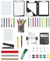 ilustração em vetor ícones conjunto papelaria