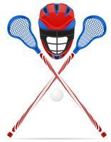 ilustração em vetor equipamento lacrosse