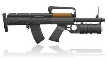 metralhadora com uma ilustração vetorial de lançador de granadas