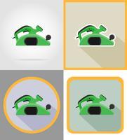 ferramentas de jointer elétrico para construção e reparação de ícones plana ilustração vetorial vetor