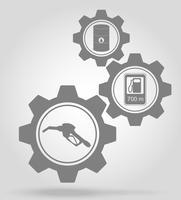 ilustração em vetor conceito mecanismo de engrenagem de combustível