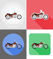 ilustração em vetor ícones plana moto