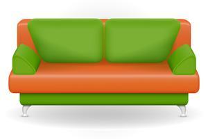 ilustração em vetor móveis sofá