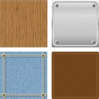 conjunto de textura de madeira de metal jeans para design