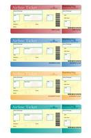 ilustração em vetor bilhete de avião
