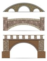 ilustração de estoque vetorial de ponte de pedra