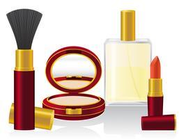 conjunto de ilustração vetorial de cosméticos