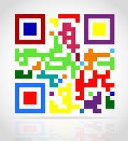 ilustração em vetor código qr multicolorido