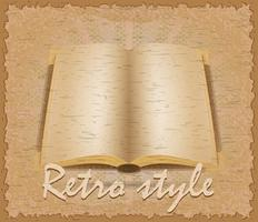 cartaz de estilo retro ilustração em vetor livro velho
