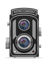 ilustração em vetor estoque câmera foto retro vintage ícone vector