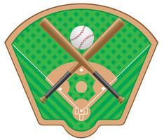 ilustração vetorial de beisebol vetor