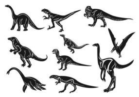Pacote de vetores de dinossauro