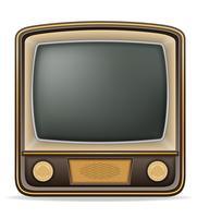 ilustração em vetor estoque retrô vintage velho ícone tv