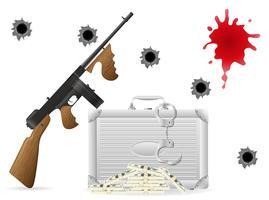 ilustração em vetor conceito gangster