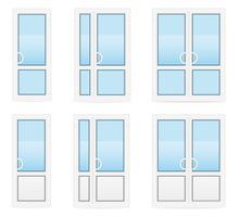 ilustração vetorial de portas de plástico transparente