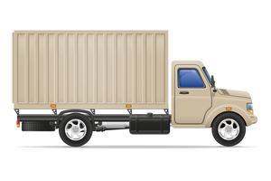 caminhão de carga para transporte de ilustração vetorial de mercadorias