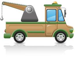 ilustração de vetor de reboque de carro