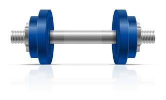 haltere metal para construção muscular em ilustração vetorial de ginásio