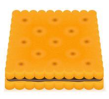 ilustração em vetor biscoito biscoito crocante