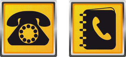 telefone de ícones e diretório para ilustração vetorial de design