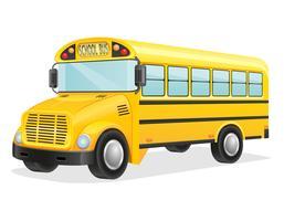 ilustração vetorial de ônibus escolar vetor