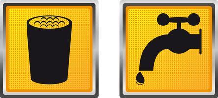 ícones de água potável para ilustração vetorial de design