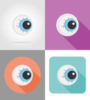ilustração em vetor ícones plana globo ocular de halloween