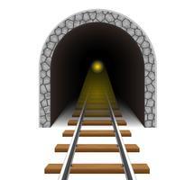 ilustração em vetor túnel ferroviário