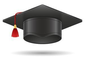 ilustração em vetor acadêmico graduação capelo mortarboard cap