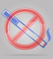 sinal transparente não fumar ilustração vetorial
