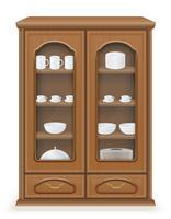 mobília do armário feita de ilustração vetorial de madeira vetor
